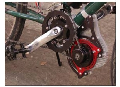 Electric bicycle motor mounting positions for Bicycles with electric motors